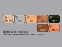 """Цветове на корпуса на спален комплект """"Фея"""" на мебелна фирма Ларди - гр. Пазарджик"""