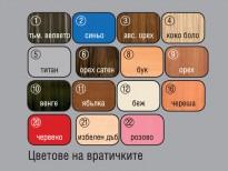 Цветове на вратичките на хотелско обзавеждане