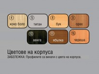 Цветове на корпуса на Портманто Прио