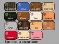 Цветове на вратичките на Портманто Прио