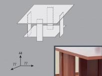 Схема на Холна маса Дори - квадратна