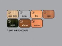 Цвят на профила на огледало Правоъгълно